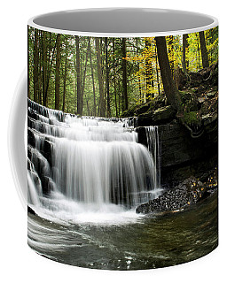 Coffee Mug featuring the photograph Serenity Waterfalls Landscape by Christina Rollo