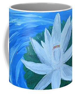 Serenity White Water Lily Coffee Mug