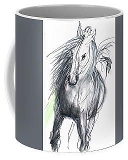 Coffee Mug featuring the mixed media Sergei by Carolyn Weltman