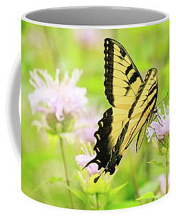 Series Of Yellow Swallowtail #4 Of 6 Coffee Mug