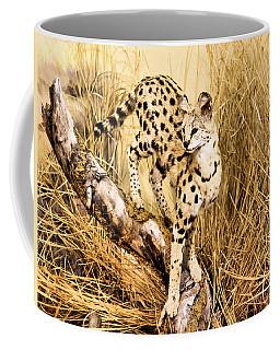 Serval Coffee Mug by Kristin Elmquist