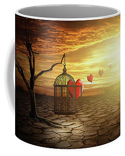 Coffee Mug featuring the digital art Set Your Self Free by Nathan Wright
