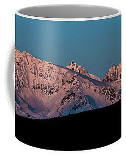 Setting Moon Over Alaskan Peaks Vi Coffee Mug