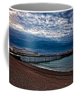 Coffee Mug featuring the photograph Seven Am On Brighton Seafront by Chris Lord