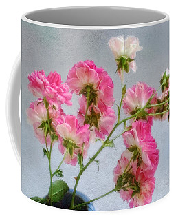 Seven Sisters Roses Coffee Mug by Louise Kumpf