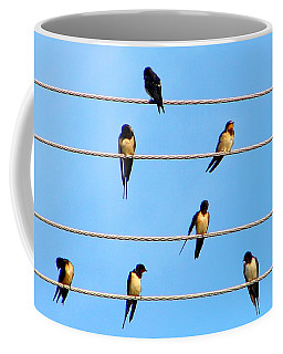Seven Swallows Coffee Mug by Ana Maria Edulescu