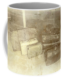 Several Vintage Bags On Floor Coffee Mug