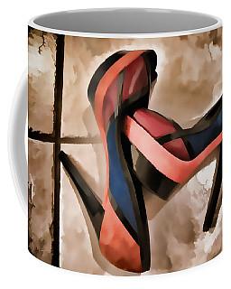 Sexy Orange High Heels Coffee Mug