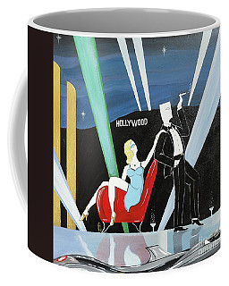 Sexy Starlet Sitting In Chair With Dashing Debonaire Date Coffee Mug