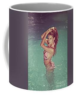 Sexy Woman In Bikini In The Water And Retro Look Image Finish Coffee Mug