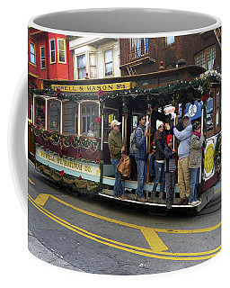 Coffee Mug featuring the photograph Sf Cable Car Powell And Mason Sts by Steven Spak