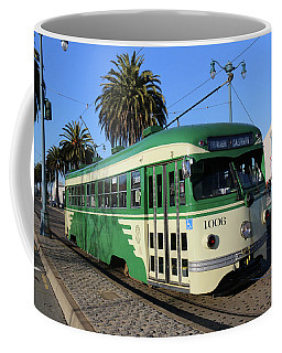 Sf Muni Railway Trolley Number 1006 Coffee Mug