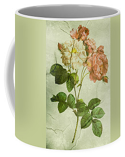 Shabby Chic Pink And White Peonies Coffee Mug