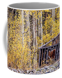 Shack Among Aspens Coffee Mug
