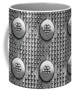 Shades Of Gray Dots With Border Coffee Mug