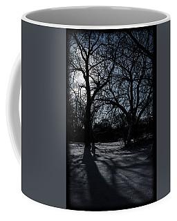 Shadows In January Snow Coffee Mug