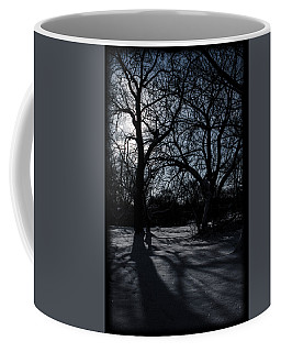 Shadows In January Snow Coffee Mug