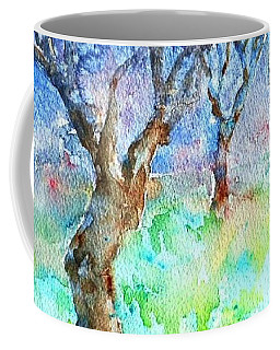 Sunlight And Shadows In The Olive Grove, Coffee Mug