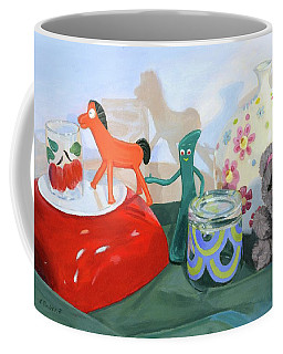 Coffee Mug featuring the painting Shadows Of The Past by Lynne Reichhart