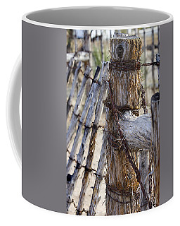 Coffee Mug featuring the photograph Shaggy Fence Post by Phyllis Denton
