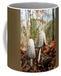 Shaggy Mane In Autumn Coffee Mug
