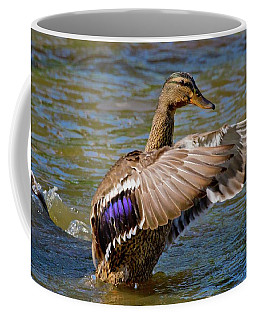 Coffee Mug featuring the photograph Shake It Off by Linda Unger