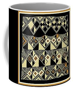 Coffee Mug featuring the digital art Shaman Tribal Kuba by Vagabond Folk Art - Virginia Vivier