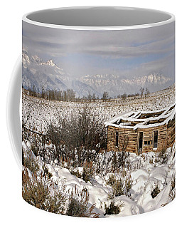 Coffee Mug featuring the photograph Shane's Cabin by Ronnie and Frances Howard