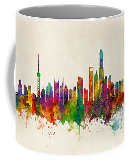 Shanghai China Skyline Coffee Mug
