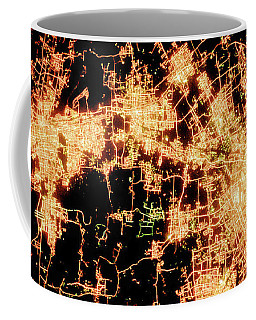 Coffee Mug featuring the photograph Shanghai From Space by Delphimages Photo Creations