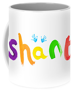Coffee Mug featuring the painting Shanti by Tim Gainey