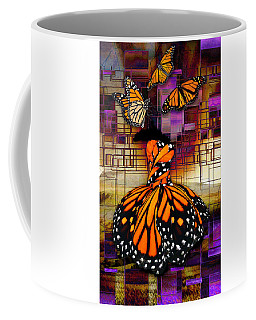 Coffee Mug featuring the mixed media Shape Shifting by Marvin Blaine