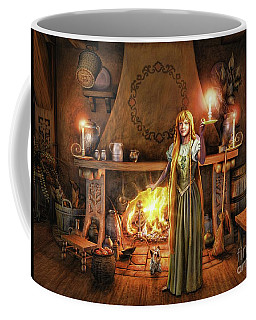 Share My Fire And Candle Light Coffee Mug by Dave Luebbert