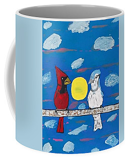 Coffee Mug featuring the painting Sharing A Moment In The Sun. by Jonathon Hansen