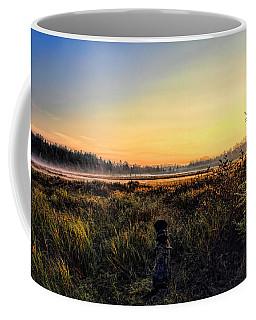 Sharing A September Sunrise With A Retriever Coffee Mug