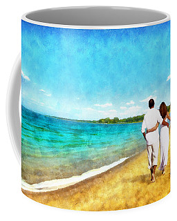 Sharing The Journey Coffee Mug by Ricky Dean