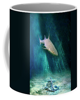 Coffee Mug featuring the photograph Shark And Anchor by Jill Battaglia
