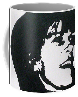 Coffee Mug featuring the drawing Sharon Stemple by Robert Margetts