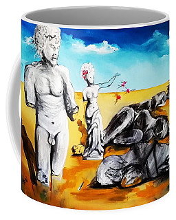 Coffee Mug featuring the painting Shattered Limbs To Shattered Souls by Helen Syron
