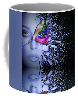 Shattered Reflection Coffee Mug by Kathy Kelly