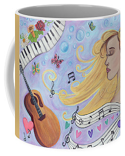 She Dreams In Music Coffee Mug