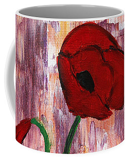 She Loved Red Poppies Coffee Mug