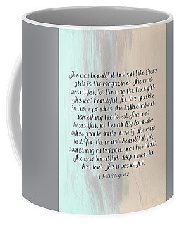 She Was Beautiful By F. Scott Fitzgerald 4 #painting #minimalism #poem Coffee Mug