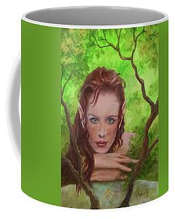 She Watches Through The Veil Coffee Mug