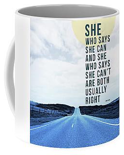 She Who Can- Art By Linda Woods Coffee Mug