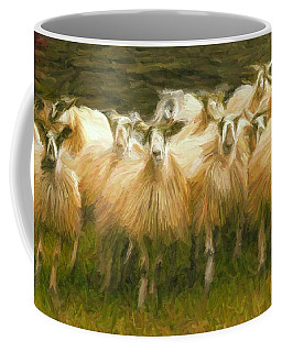 Sheep At Hadrian's Wall Coffee Mug by Caito Junqueira