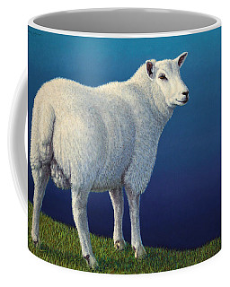 Sheep At The Edge Coffee Mug