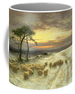 Sheep In The Snow Coffee Mug