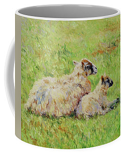 Sheep In The Spring Time,la Vie Est Belle Coffee Mug