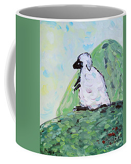 Sheep On A Hill Coffee Mug